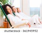 friends relaxing and sleeping... | Shutterstock . vector #361945952