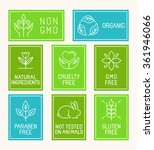 vector set of design elements ... | Shutterstock .eps vector #361946066