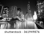 chicago downtown at night | Shutterstock . vector #361949876