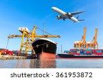 container cargo freight ship... | Shutterstock . vector #361953872