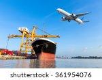 container cargo freight ship... | Shutterstock . vector #361954076