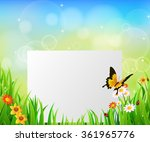 background green grass with... | Shutterstock . vector #361965776