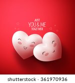 sweet hearts of happy lovers... | Shutterstock .eps vector #361970936