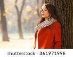 portrait of a beautiful...   Shutterstock . vector #361971998
