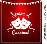 carnival mask typographic... | Shutterstock .eps vector #361972982