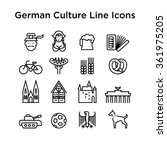 german culture icons  culture... | Shutterstock .eps vector #361975205