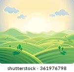 natural landscape  sunrise over ... | Shutterstock .eps vector #361976798