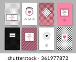 vintage creative cards. hipster ... | Shutterstock .eps vector #361977872