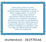 blue border frame deco vector... | Shutterstock .eps vector #361978166