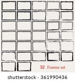 grunge frames set.vector grunge ... | Shutterstock .eps vector #361990436