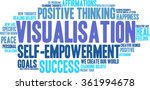 visualisation word cloud on a...   Shutterstock .eps vector #361994678