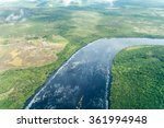 Aerial View Of River Carrao In...