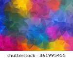 abstract 2d geometric colorful... | Shutterstock .eps vector #361995455