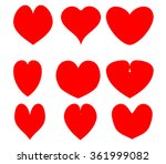valentine heart on white... | Shutterstock .eps vector #361999082