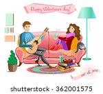 love concept.cartoon couple... | Shutterstock .eps vector #362001575