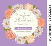 flower wedding invitation card  ... | Shutterstock .eps vector #362022266