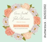 flower wedding invitation card  ... | Shutterstock .eps vector #362022302