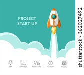 start up. rocket ship. flat... | Shutterstock .eps vector #362027492