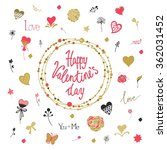 valentine's day decorative... | Shutterstock .eps vector #362031452