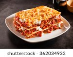 tomato and ground beef lasagne... | Shutterstock . vector #362034932