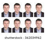 Stock photo identification photo of a man for passport identity card 362034962