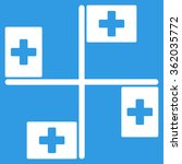 hospital flags icon | Shutterstock .eps vector #362035772