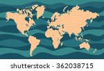 vector dotted world map with a... | Shutterstock .eps vector #362038715
