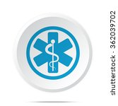 flat blue medical  icon on... | Shutterstock .eps vector #362039702