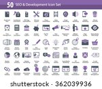 set of seo and development icons | Shutterstock .eps vector #362039936