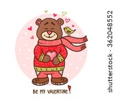 happy valentines day greeting... | Shutterstock .eps vector #362048552
