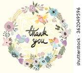 floral frame. cute retro...   Shutterstock .eps vector #362049596