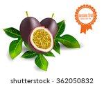 volumetric passion fruit set... | Shutterstock .eps vector #362050832
