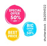 special offer  big offer   best ... | Shutterstock .eps vector #362054522