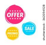 offer  sale   promo marks | Shutterstock .eps vector #362054528