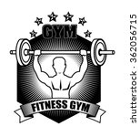 gym and fitness lifestyle  | Shutterstock .eps vector #362056715
