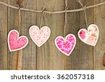 Pink Country Fabric Hearts...