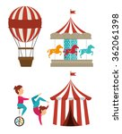 circus carnival entertainment  | Shutterstock .eps vector #362061398