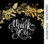 glitter golden leaves card with ... | Shutterstock .eps vector #362070602