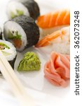classic japanese cuisine sushi... | Shutterstock . vector #362073248