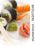 classic japanese cuisine sushi... | Shutterstock . vector #362073248
