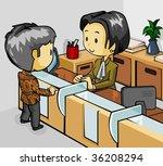 teller service | Shutterstock .eps vector #36208294