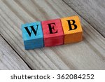 web text on colorful wooden... | Shutterstock . vector #362084252