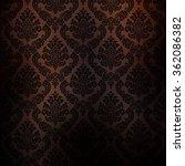 Dark Brown Patterned Wallpaper...