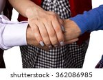 hand to and support each other... | Shutterstock . vector #362086985