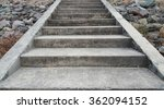 Concrete Stairs With Rocks...