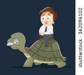 cartoon businessman works... | Shutterstock .eps vector #362096102