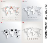 world map in a flat style.earth ... | Shutterstock .eps vector #362102342