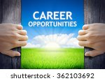 career opportunities. hand... | Shutterstock . vector #362103692