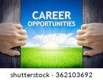 career opportunities. hand... | Shutterstock . vector #362103692