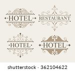 logo and monogram line art... | Shutterstock . vector #362104622